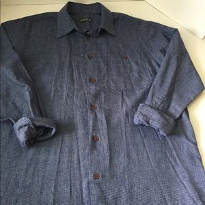 Men's ORVIS Long -Sleeve Casual Shirt Large
